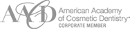 American Academy of Cosmetic Dentistry Corporate Member badge