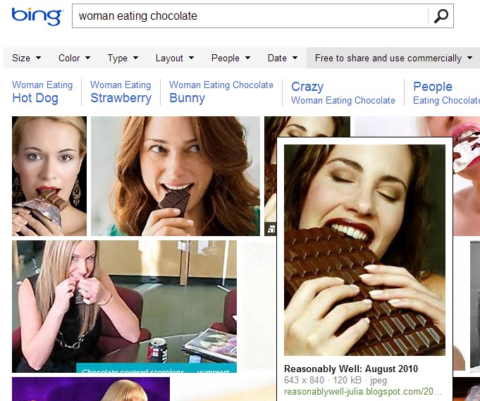 A problem with Bing image search by license