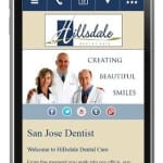 Dental mobile website design