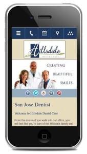 Dental mobile website design
