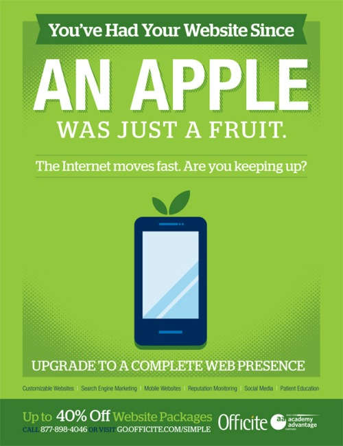 You've had your website since an Apple was just a fruit