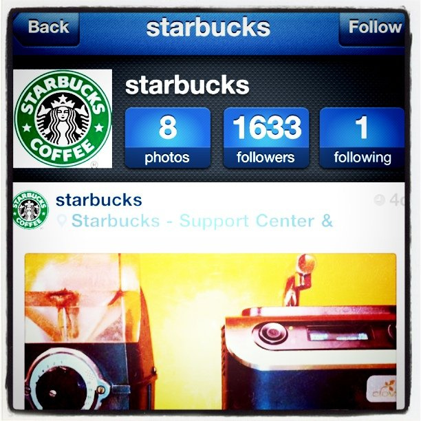 Starbucks has an Instagram. So should you!
