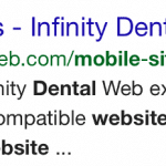 Sample Mobile Friendly Infinity Dental Web Search Result