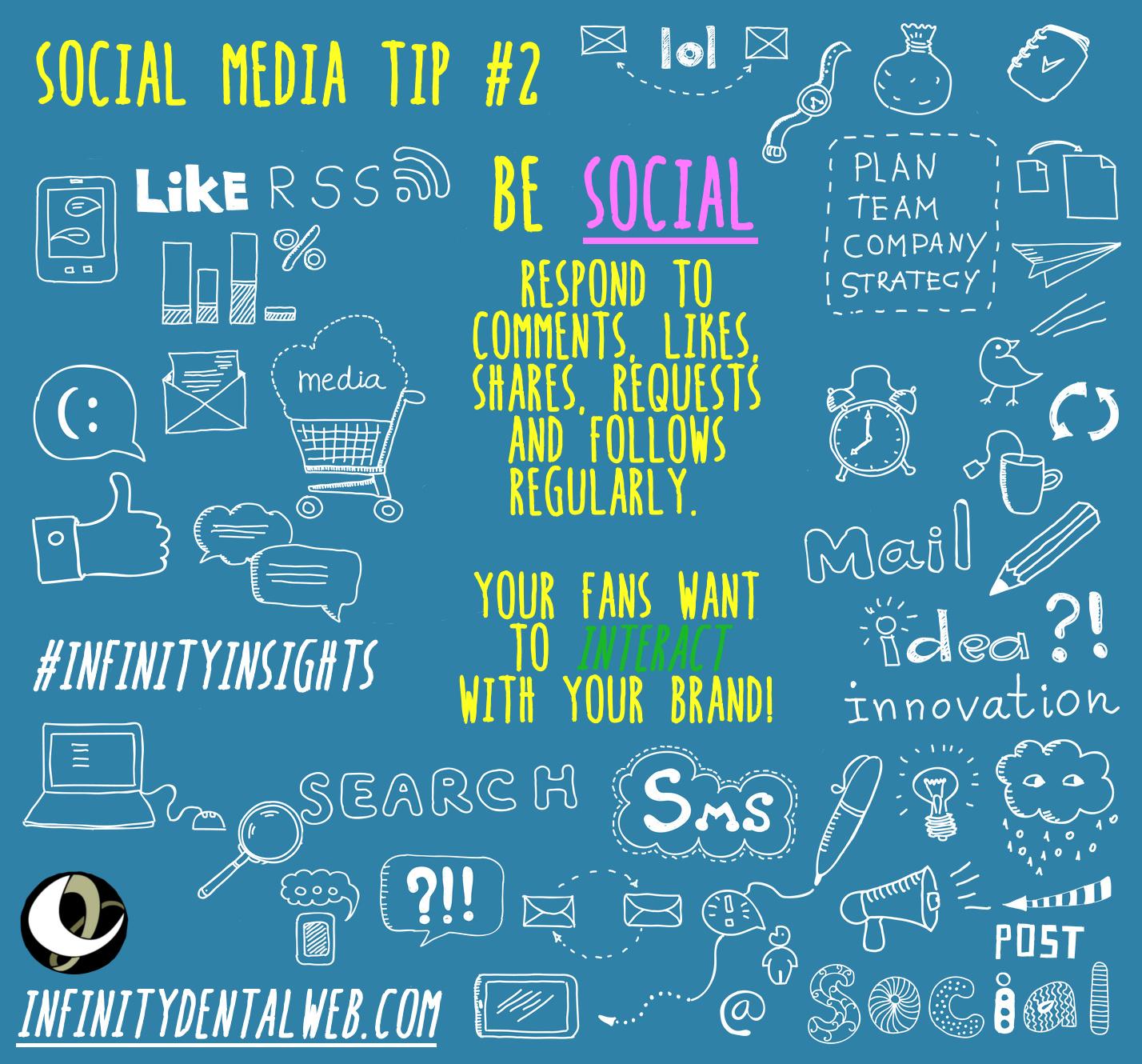 Social Media Tips from Infinity Dental Web