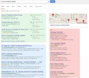 Google local search anatomy