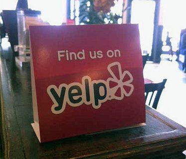 encourage Yelp reviews