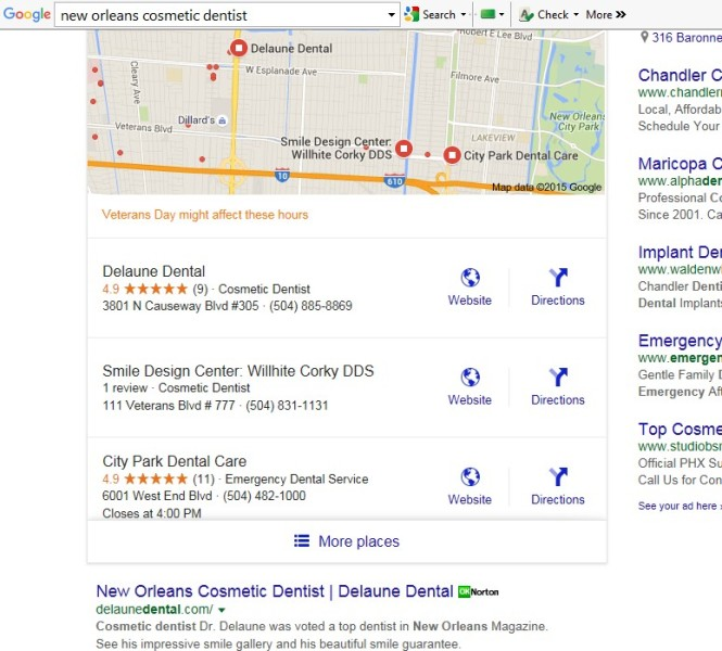 Google search results highlight reviews