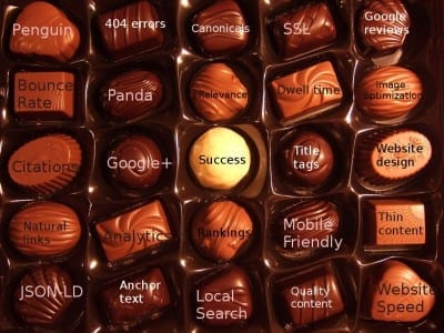 SEO Box of chocolates