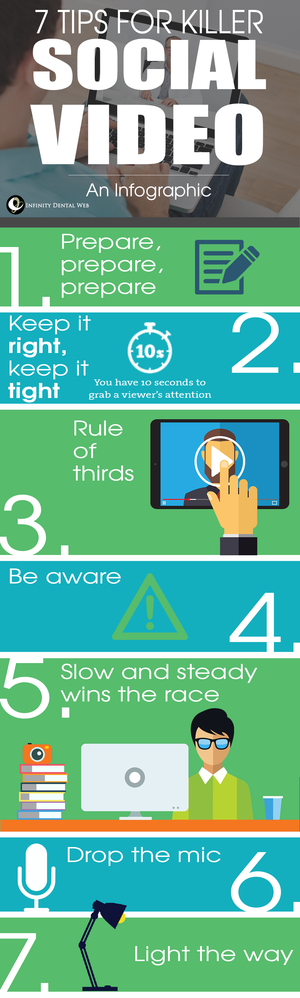 Infographic with tips for better social video.