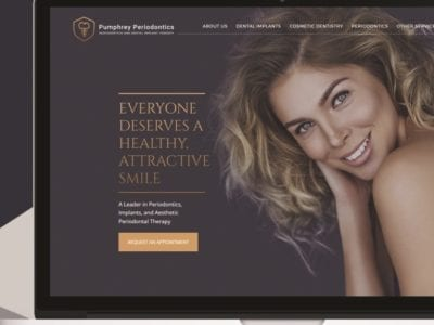 image of the website of Dr. David Pumphrey, Altanta periodontist