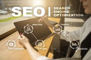 Search engine optimization with seo icons