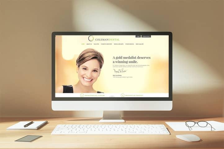 Coleman Dental custom website design