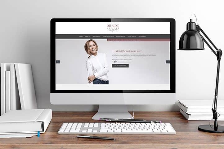 Delaune Dental custom website design