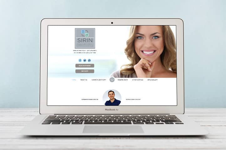 Sirin Dentistry custom website design