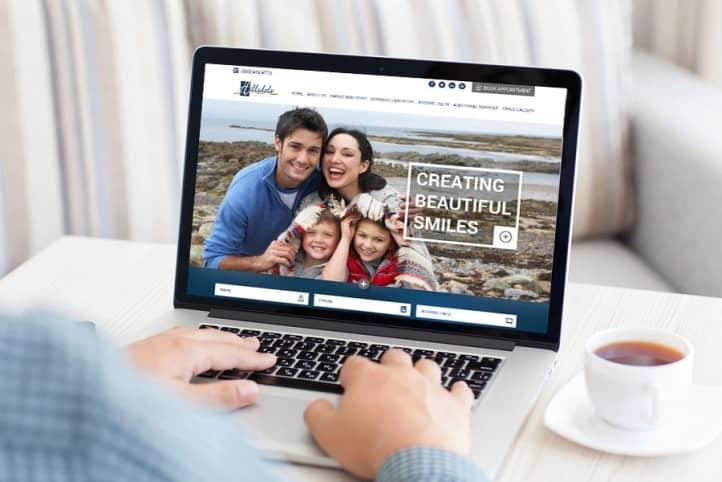 Hillsdale Dental Care custom website design