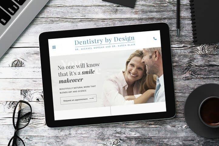Dentistry by Design custom website design
