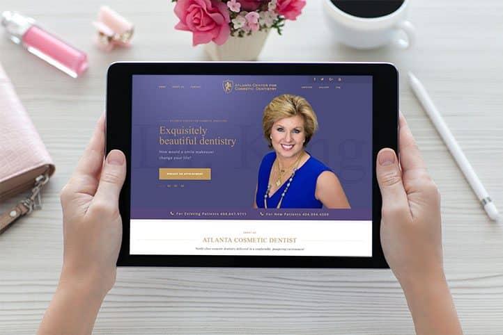 Custom website for Atlanta Center for Cosmetic Dentistry