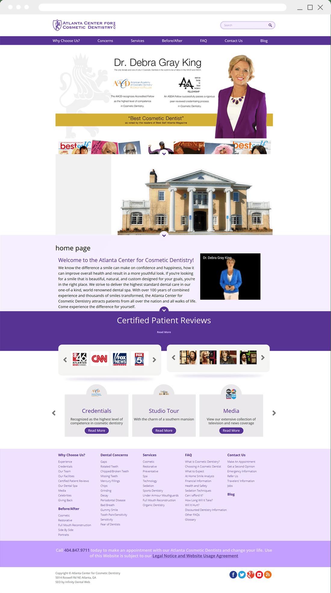 Old Website Design