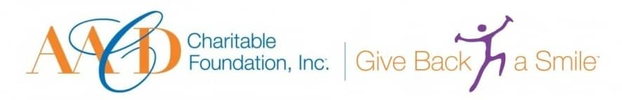 Logo for the AACD Charitable Foundation - Give Back a Smile